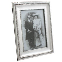 1908 Antique Sterling Silver Photograph Frame