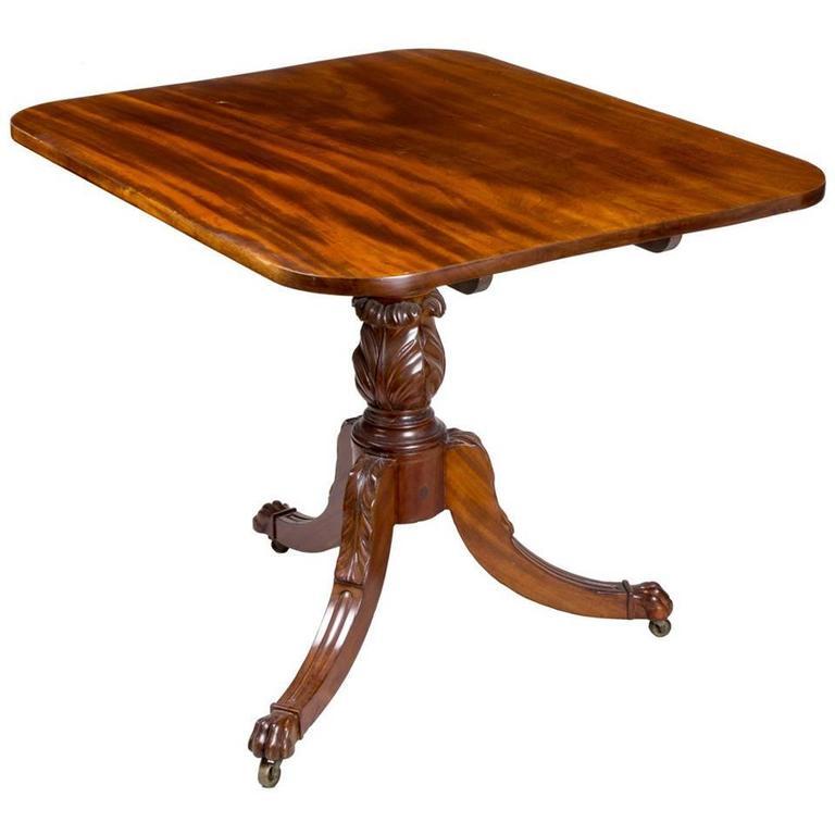 Large Mahogany Neoclassical Tilt-Top Table, New York, circa 1815
