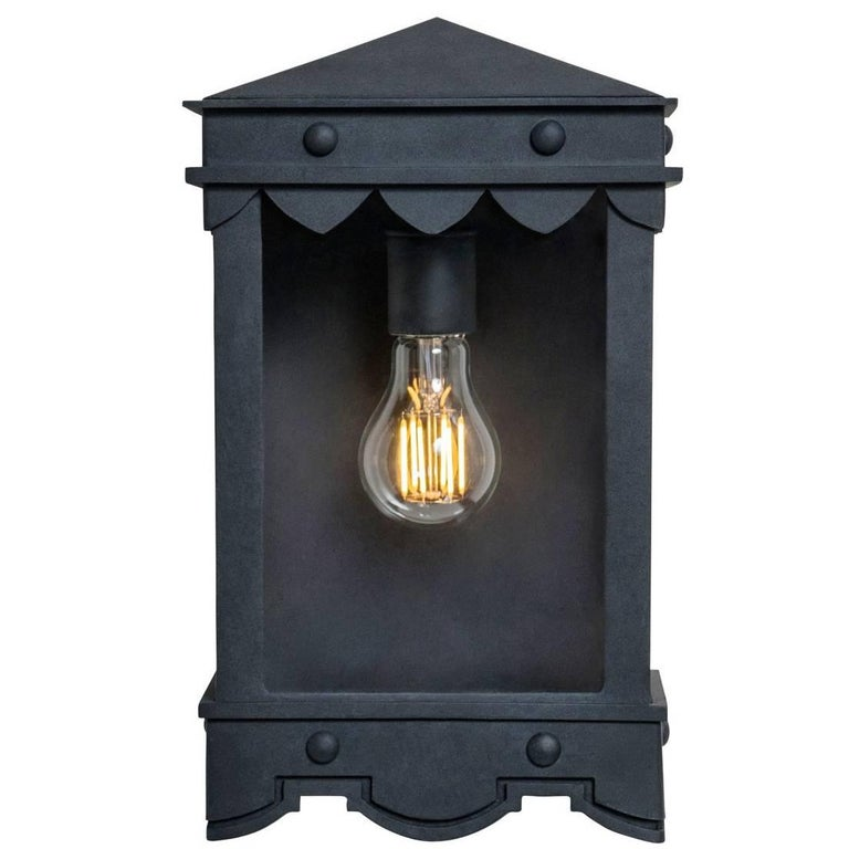 Detailed Mediterranean Style Flush Mount with Historic Profiles Outdoor Lantern For Sale