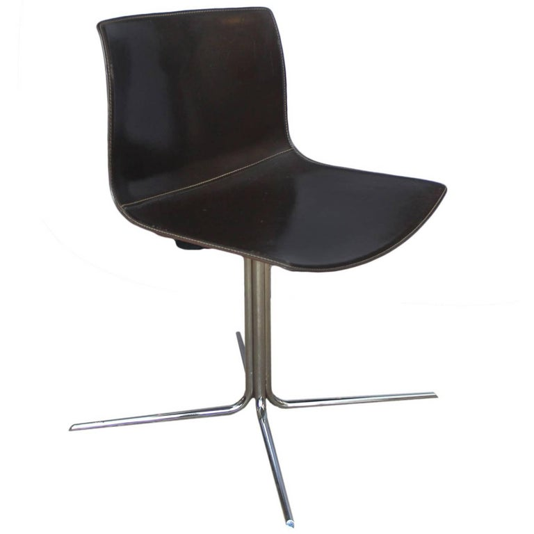 Leather and Chrome Desk Chair