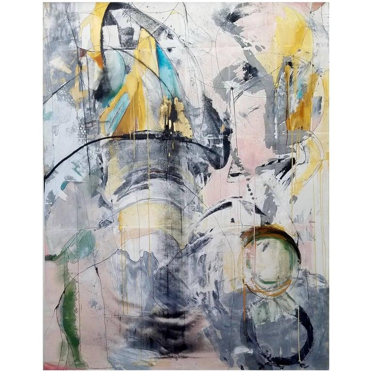 """Adagio,"" 2017 Modern Framed Painting on Canvas by Kathi Robinson Frank 1"