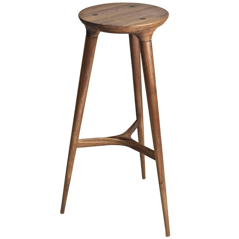 Kingstown Barstool Contemporary Three Legged Stool By