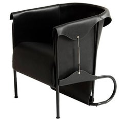 Club Chair, Inspired by English Saddlery and High Fashion in Leather