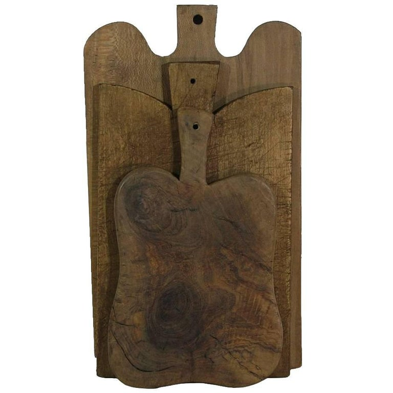 Collection of Three Rare French 19th Century, Wooden Chopping / Cutting Boards For Sale