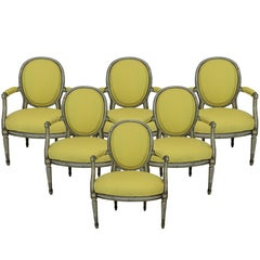 Set of Six 18th Century French Armchairs