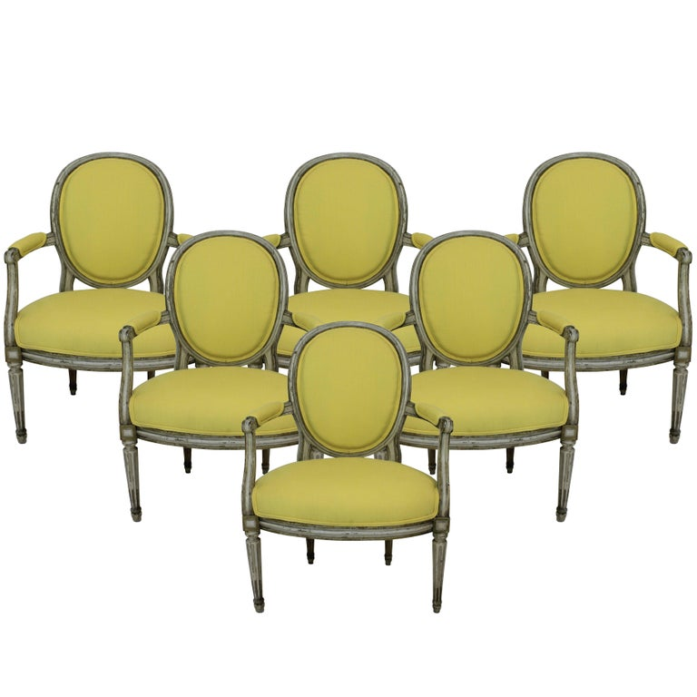 Set of Six 18th Century French Armchairs 1