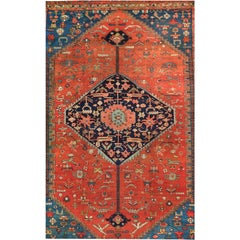 Antique Persian Serapi Rug, circa 1880s