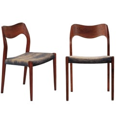 Fine Pair of Niels Møller for J.L. Møller Model No. 71 Rosewood Side Chairs
