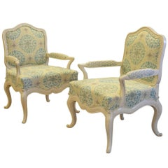 Pair of 20th Century Painted Armchair