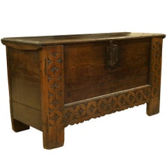 Large 17th Century Elm Coffer