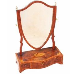 Antique Mahogany Dressing Table Mirror