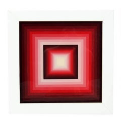 Original Geometric Painting in the Manner of Josef Albers
