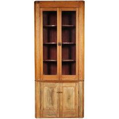 Vintage Pine Corner Cabinet