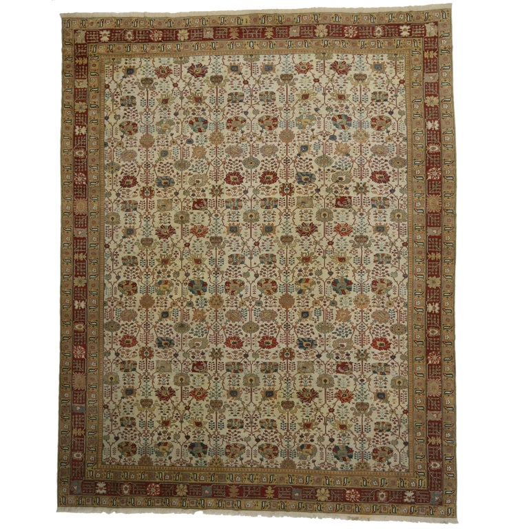 Vintage Turkish Rug with Traditional Style and Light Colors