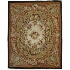 Antique French Aubusson Palace Size Rug with Rococo Louis XV Savonnerie Style