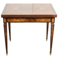 19th Century, Veneered, Tapered Leg Games Table