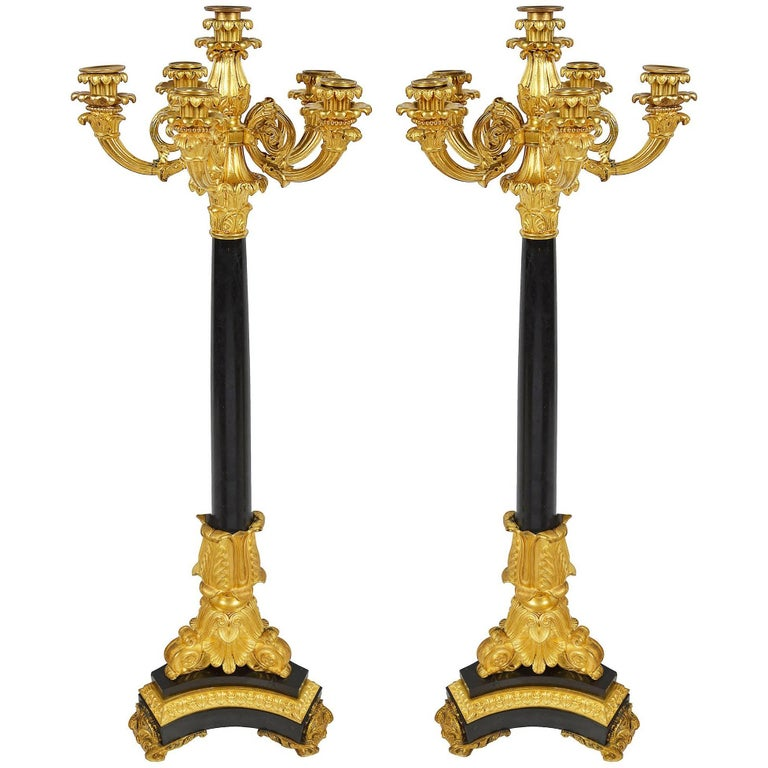 Pair of Louis XVI Style Candelabra