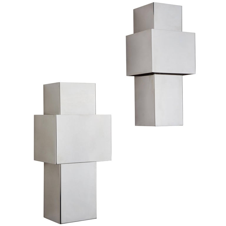 "Pair of ""Love"" Sconces by Willy Rizzo for Italia 1"