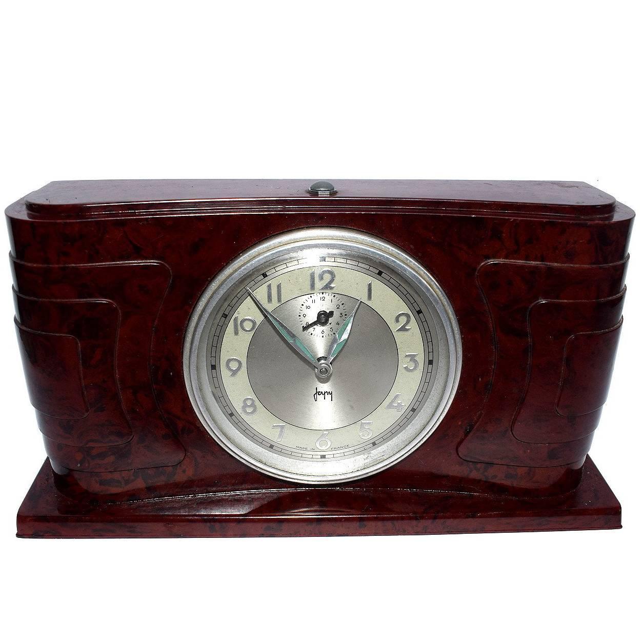 Art Deco Bakelite Streamline Clock by Japy France