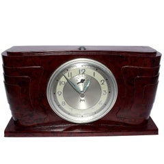 Art Deco Bakelite Streamline Clock by Japy France