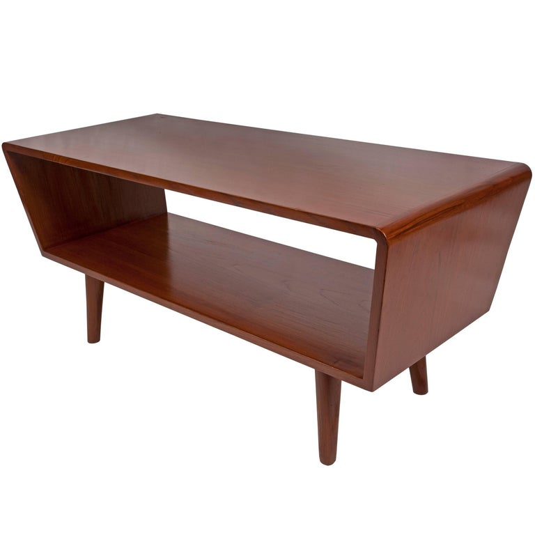Mid Century Modern Coffee Table With Planter: Danish Mid-Century Modern Coffee Or Cocktail Table, Circa