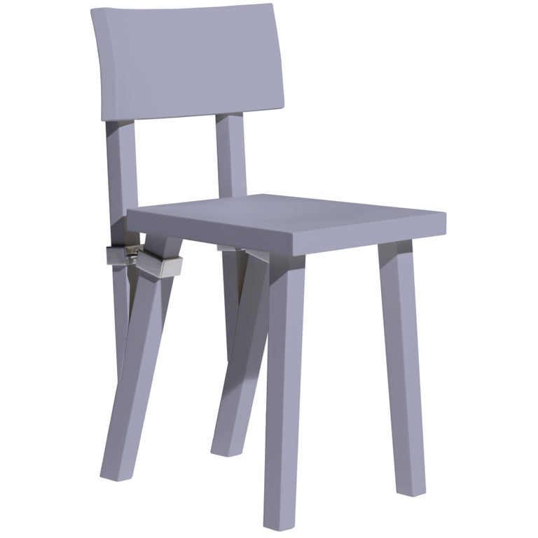 """Torquemada"" Matt Lacquered Textured Beech Chair by Philippe Starck for Driade"