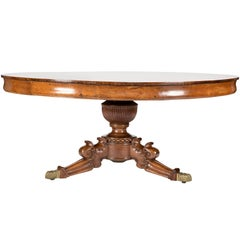 Impressive Anglo-Indian Padouk Wood Circular Centre Table