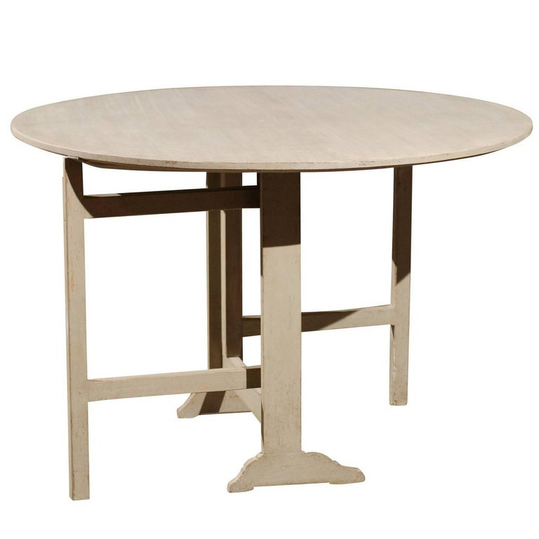 Swedish 1890s painted wood folding wine tasting table with gateleg support for sale at 1stdibs - Folding gateleg table ...