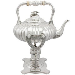 1850s Antique German Silver Spirit Kettle