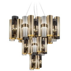 La Lollo Extra Large Suspension Lamp by Lorenzo Bozzoli