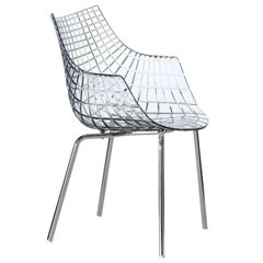 """Meridiana"" Polycarbonate and Steel Chair Designed by C. Pillet for Driade"