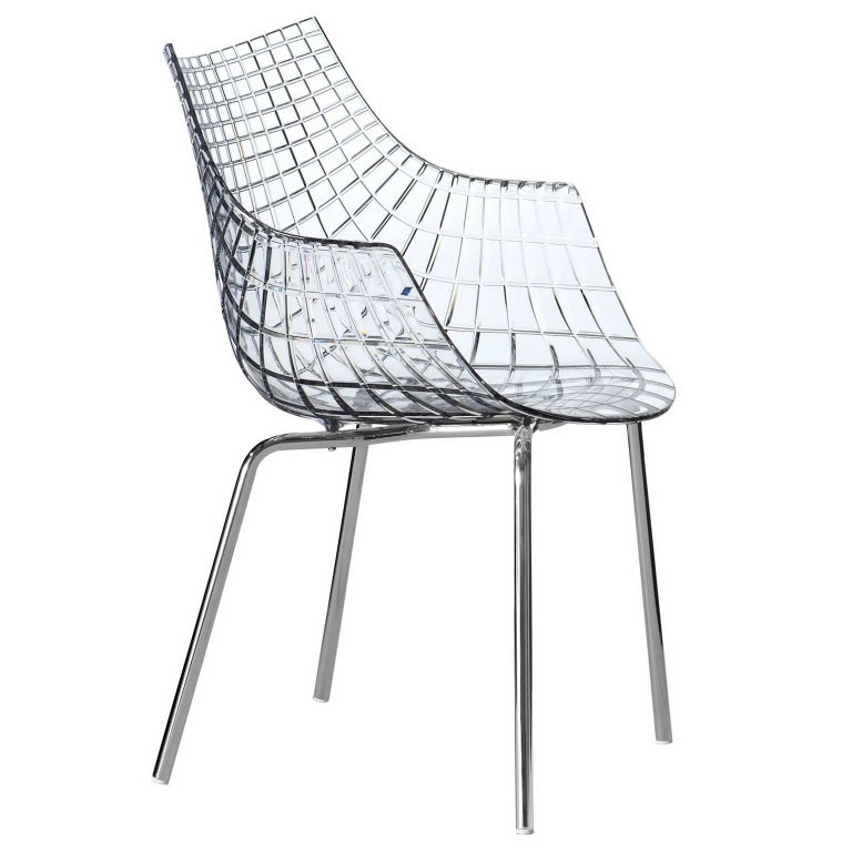 """""""Meridiana"""" Polycarbonate and Steel Chair Designed by C. Pillet for Driade"""