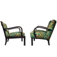 Pair of His & Her Vintage Chairs in the Manner of Edward Wormley for Dunbar