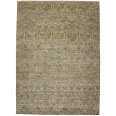 New Transitional Ikat Area Rug with Modern Design, Neutral Color Area Rug