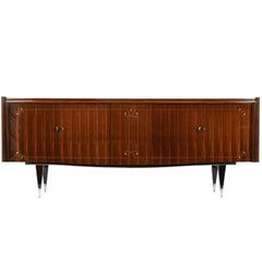 French Art Deco Macassar Ebony Buffet with Center Dry Bar
