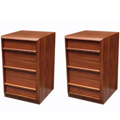Pair of Modernist Three-Drawer Chests by T.H. Robsjohn-Gibbings