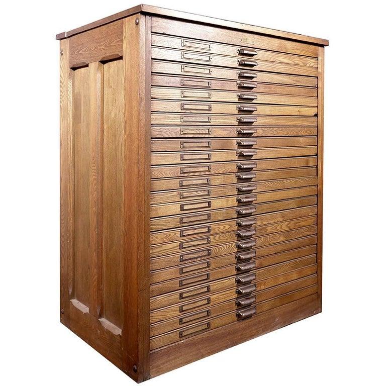 1800s Oak 24-Draw Flat File 1