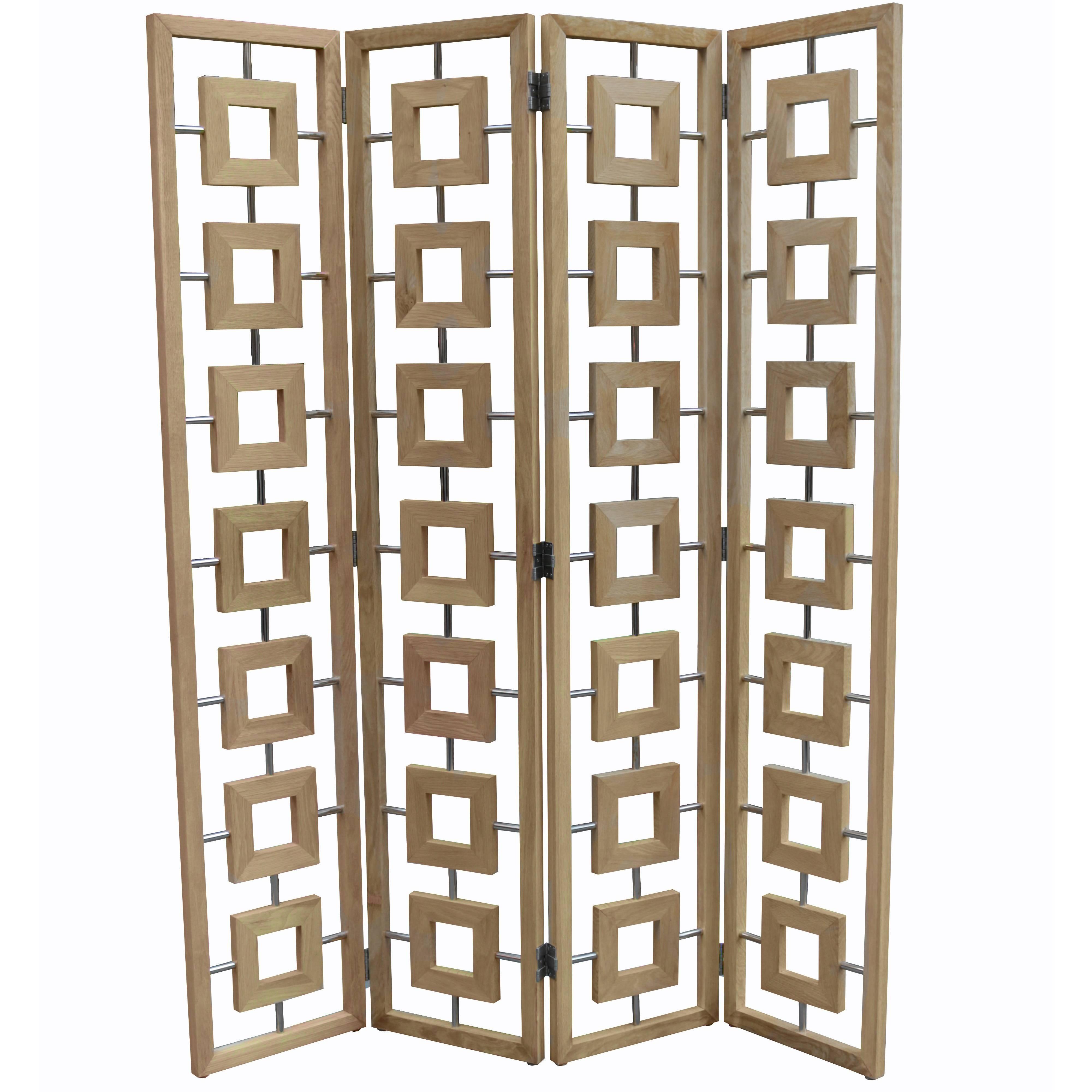 Modernist Four-Panel Folding Screen