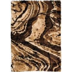 Swedish Handwoven Rya Carpet, 1950