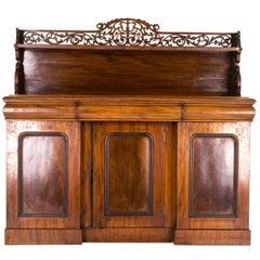 Antique Buffet Mahogany Sideboard Victorian Chiffonier, Scotland, 1870