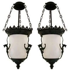 Gothic Verdigris Bronze Lantern