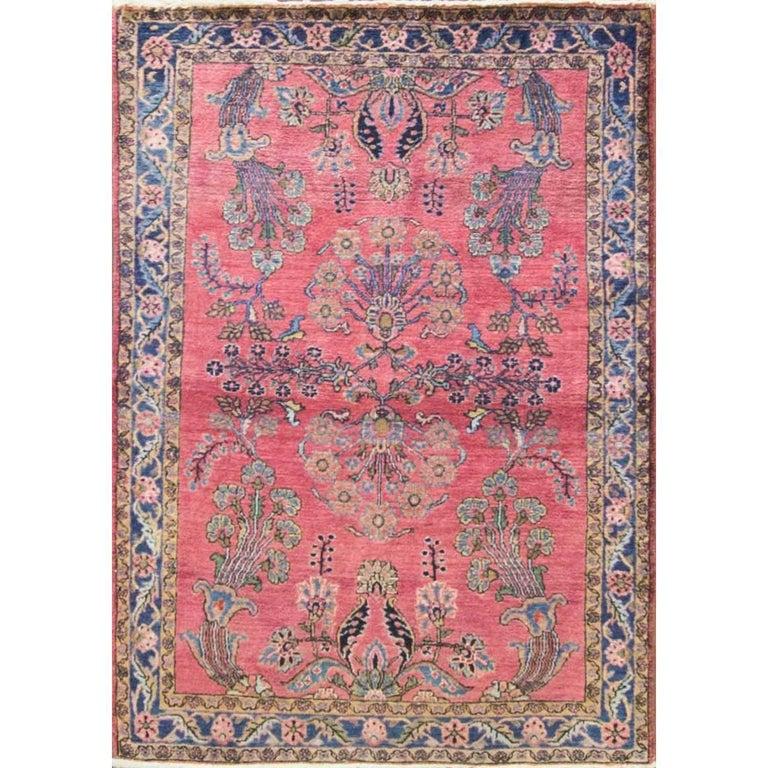 Wonderful Persian Mohajeran Sarouk Rug, Manchester Wool At