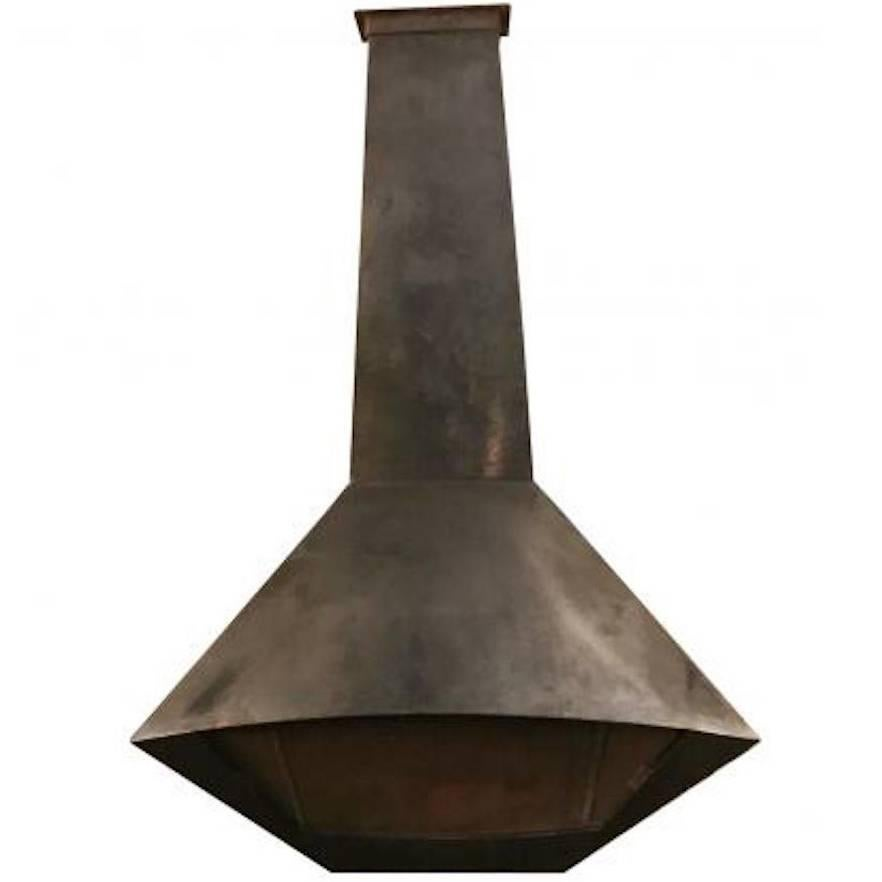 Mid-Century Electric Cone-Shaped Freestanding Fireplace Indian ...