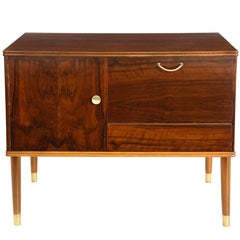 Danish Mid-Century Modern Mahogany Cabinet with Door and Drawer, Stamped