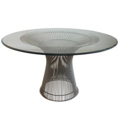 Warren Platner for Knoll Mid-Century Glass, Round Dining Table