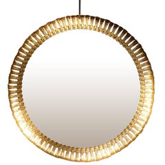 Gold Gilt Metal Extra Large Mirror, Spain, 1940s