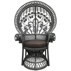 Mid-Century Rattan Fan Chair