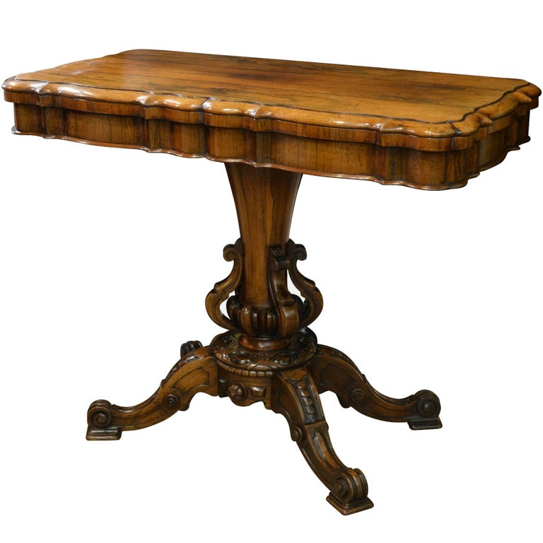 19th Century Rosewood Card Table