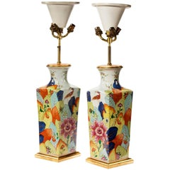 Pair of Late 20th Century Square Oriental Vase Lamps