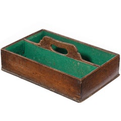 George III Period Mahogany Two Division Cutlery Box